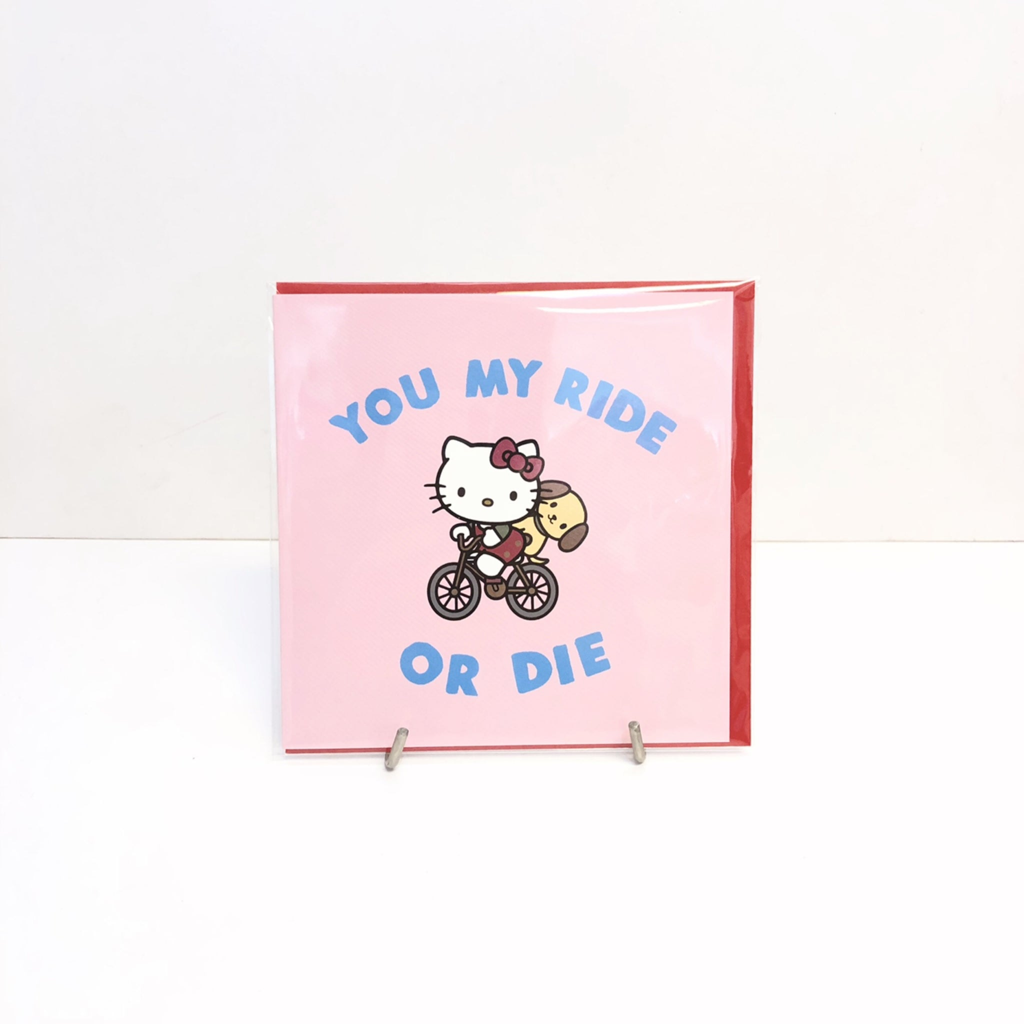 Hello Kitty Ride or Die Card by Jolly Awesome