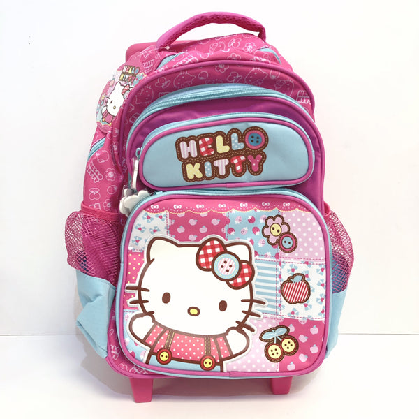 "Hello Kitty Patchwork 16"" Rolling Backpack"