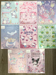 Sanrio Characters Large Clear Twinkle File Folder