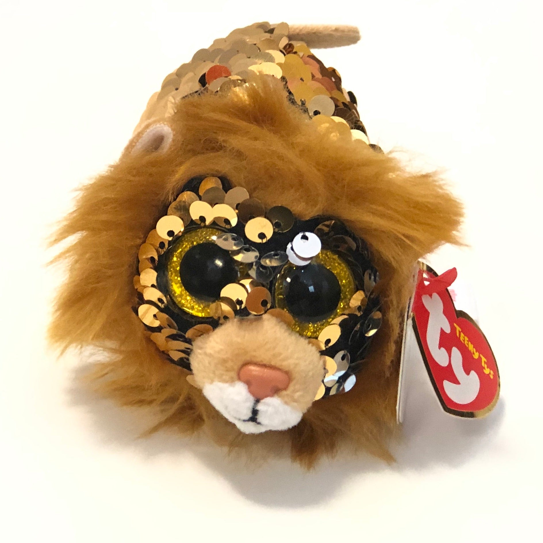Regal Sequin Lion TY Teeny Plush