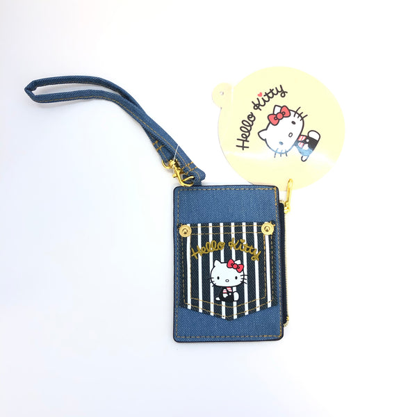 Hello Kitty Denim Pass Case