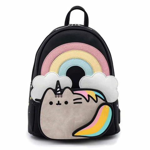 Loungefly x Pusheen Rainbow Unicorn Mini Backpack