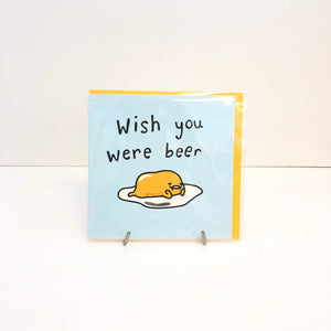 Gudetama Beer Card by Jolly Awesome