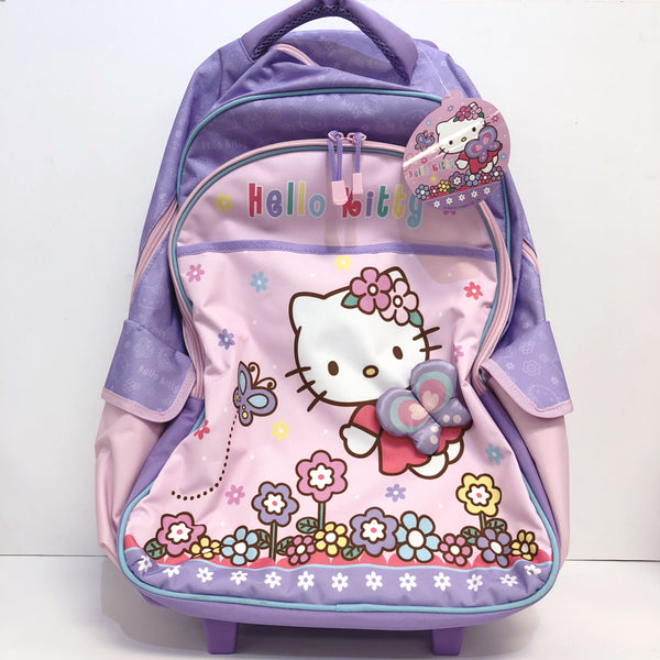 "Hello Kitty Butterfly Rolling 20"" Backpack"