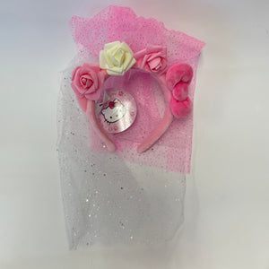 Hello Kitty Rose Veil Headband
