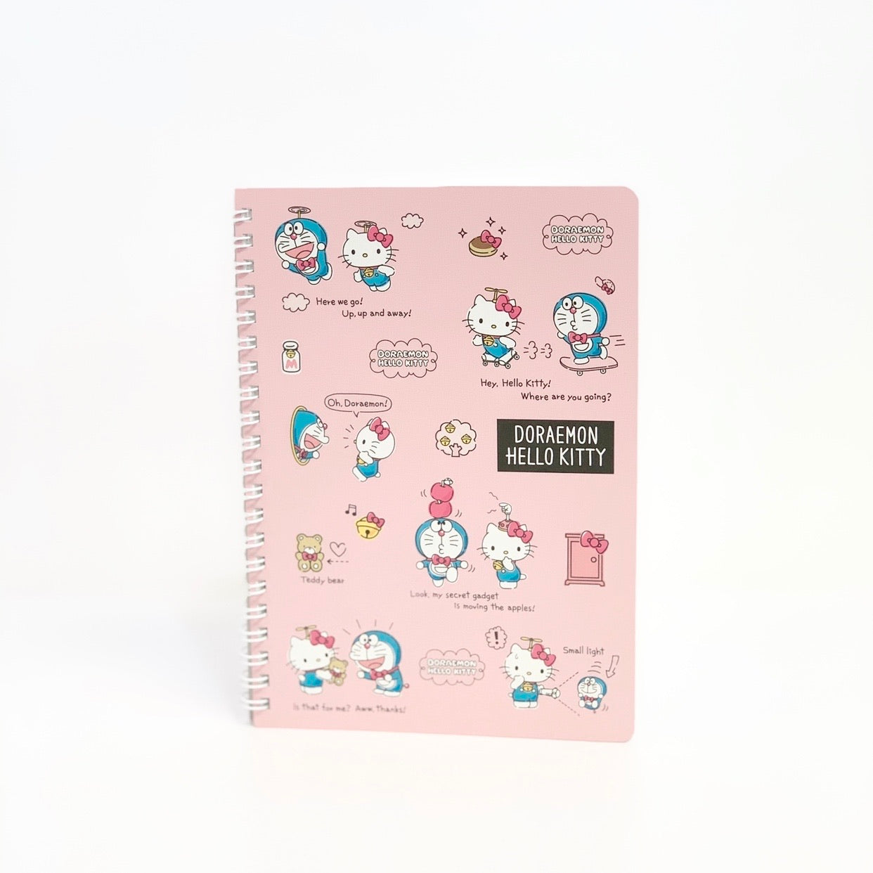 Hello Kitty x Doraemon Mini Spiral Notebook