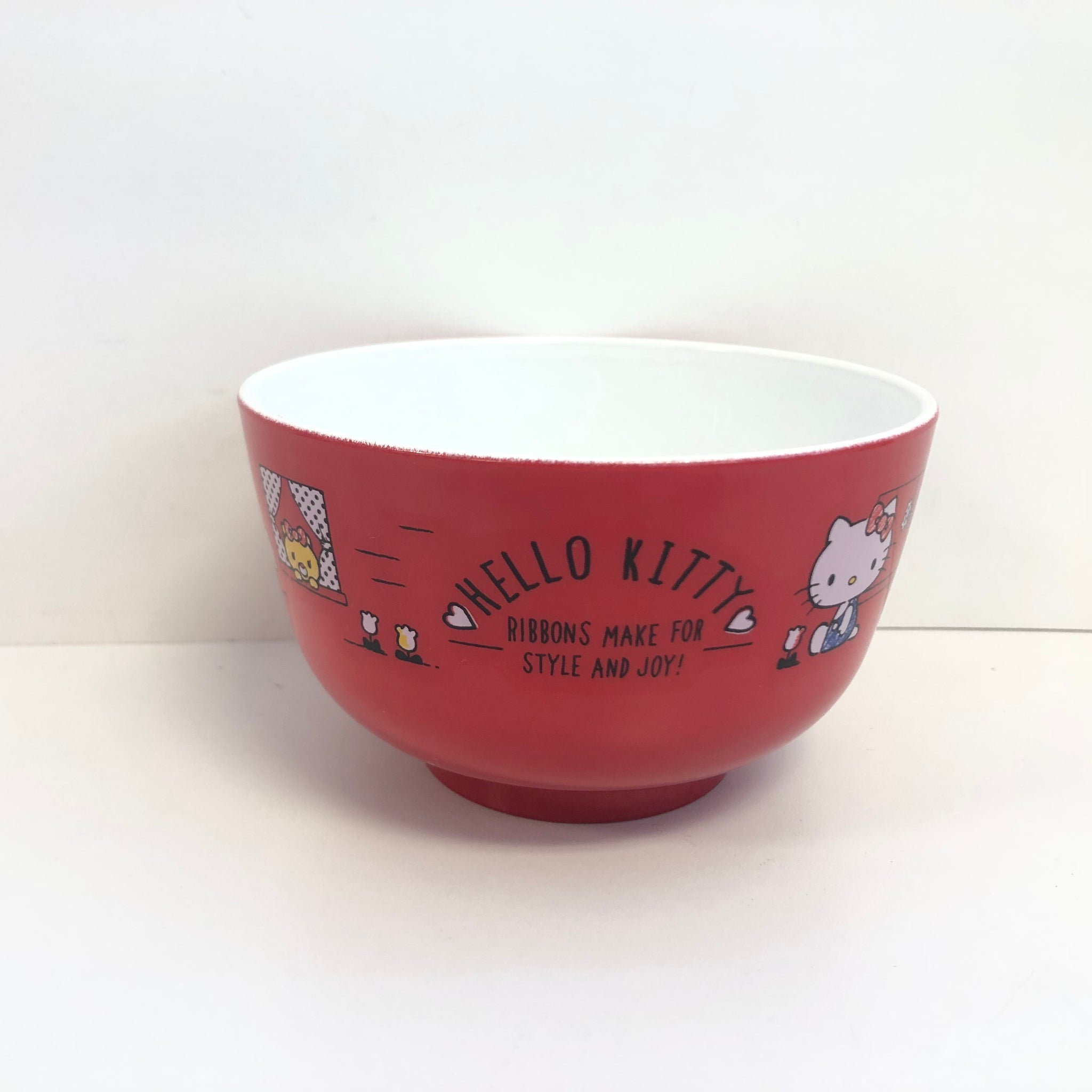 Hello Kitty Apple Plastic Melamine Bowl