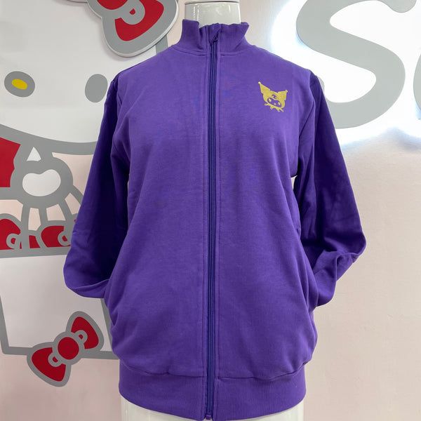 Kuromi Purple and Gold French Terry Jacket