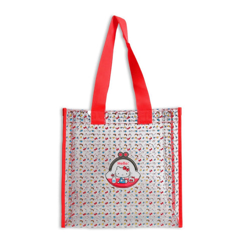 Hello Kitty Friends Around the World Red Clear Tote
