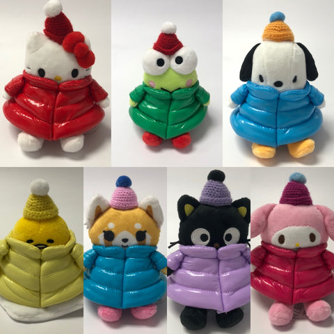 "Sanrio Characters 6"" Puffy Down Jacket Plush"