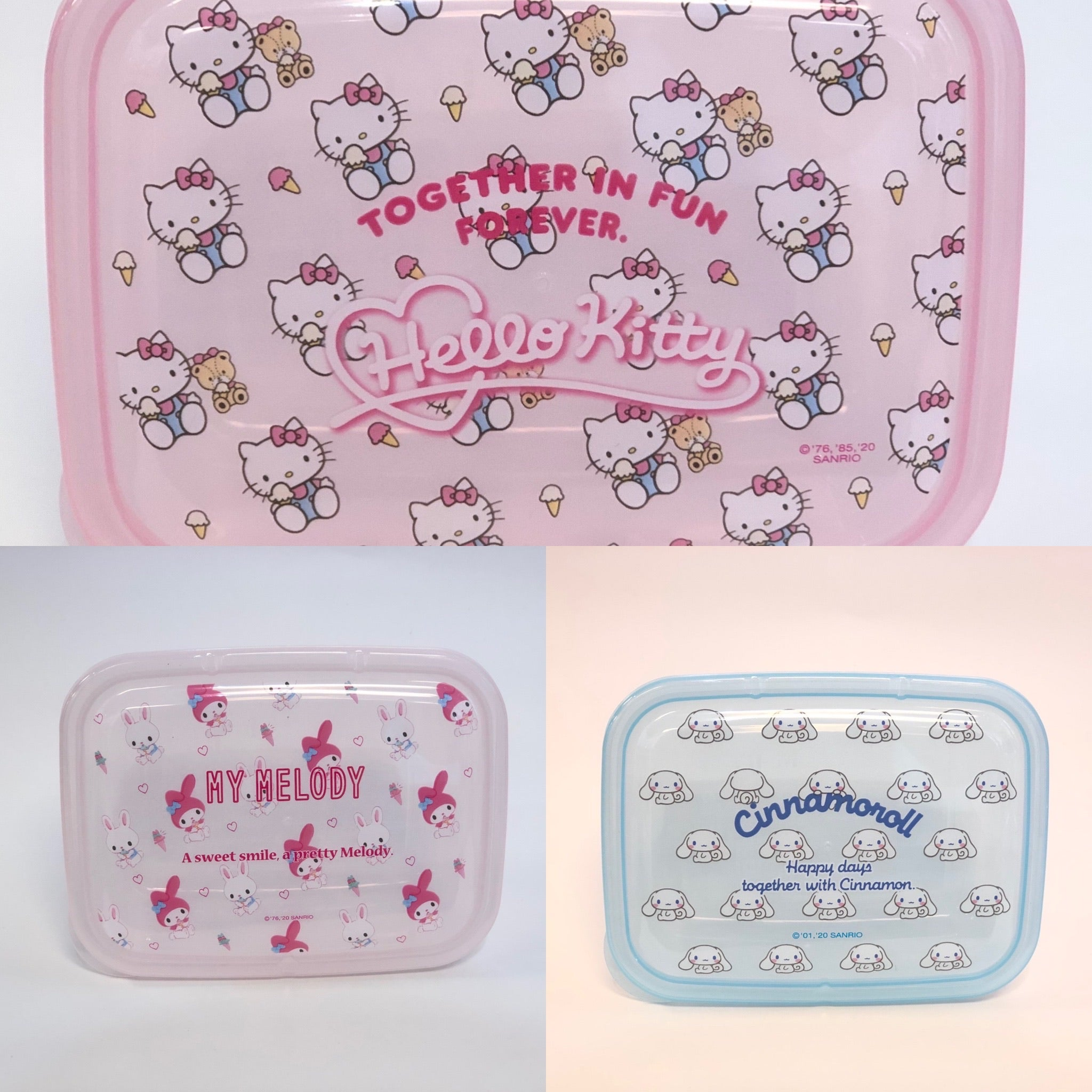Sanrio Characters 2 Piece Lunch Case Set