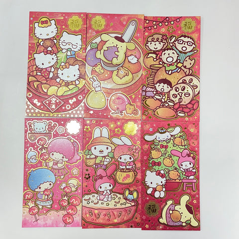 Sanrio Characters Family Lunar New Year 2021 Long Red Envelopes