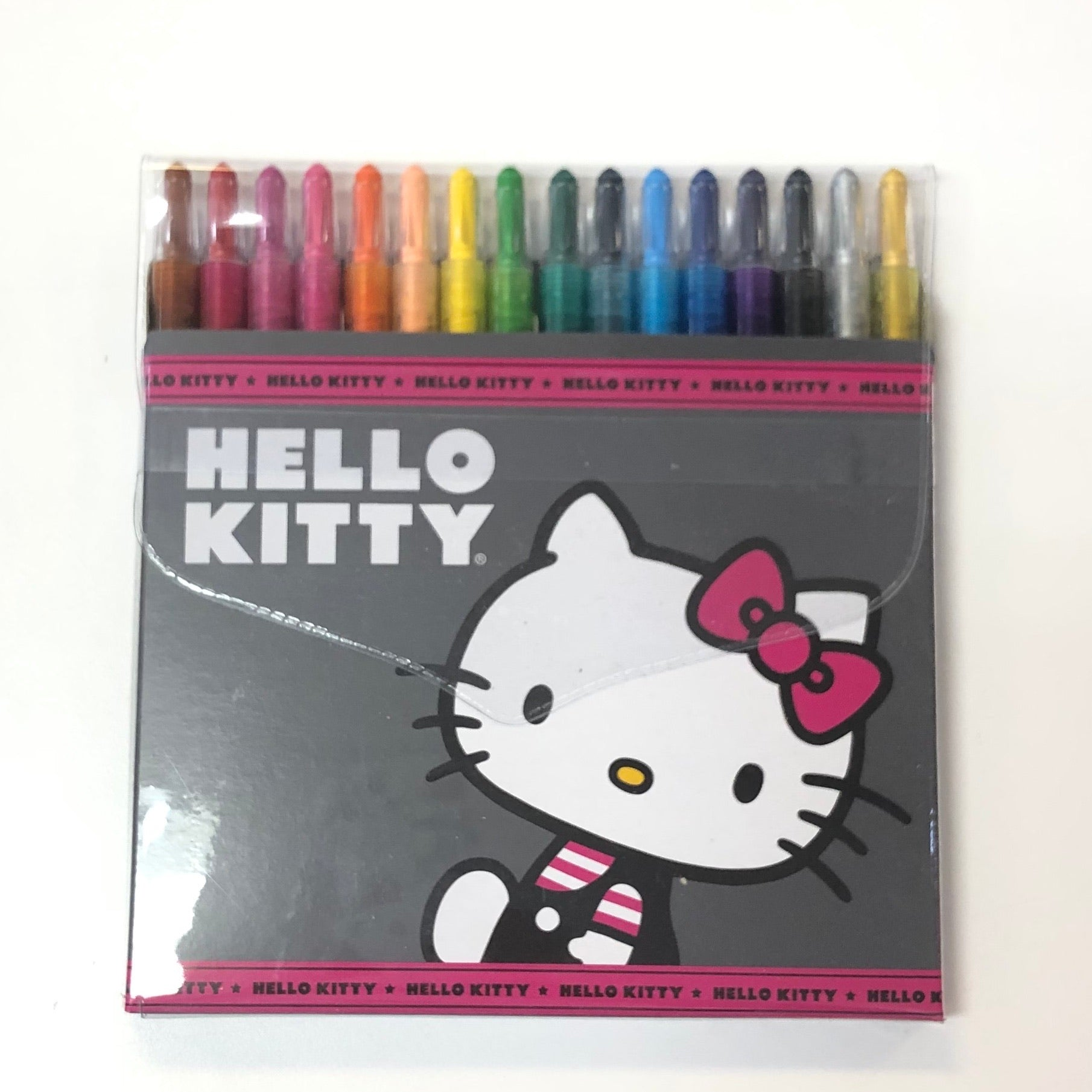 Hello Kitty Charming Pink Twist Up Crayons