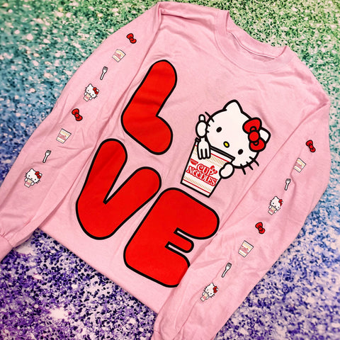 Nissin Cup Noodles x Hello Kitty Love Long-Sleeve Tee