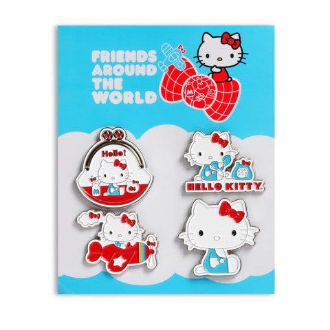 Hello Kitty Friends Around the World Pin Set