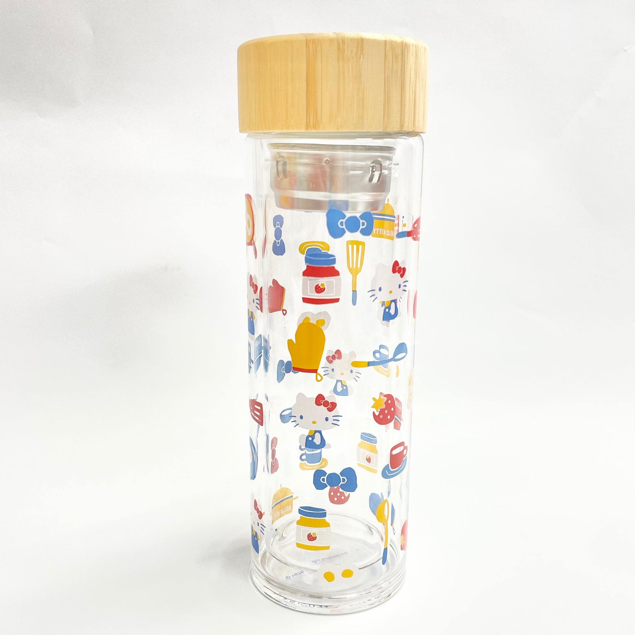 Hello Kitty Cooking Glass Bottle w/ Tea Filter