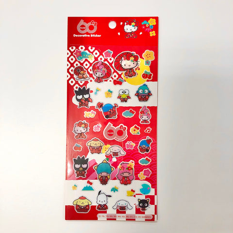 Sanrio Characters 60th Anniversary Sticker Sheet