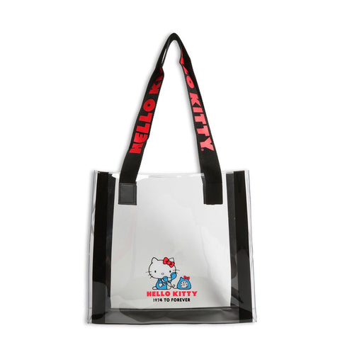 Hello Kitty Friends Around the World Black Clear Tote