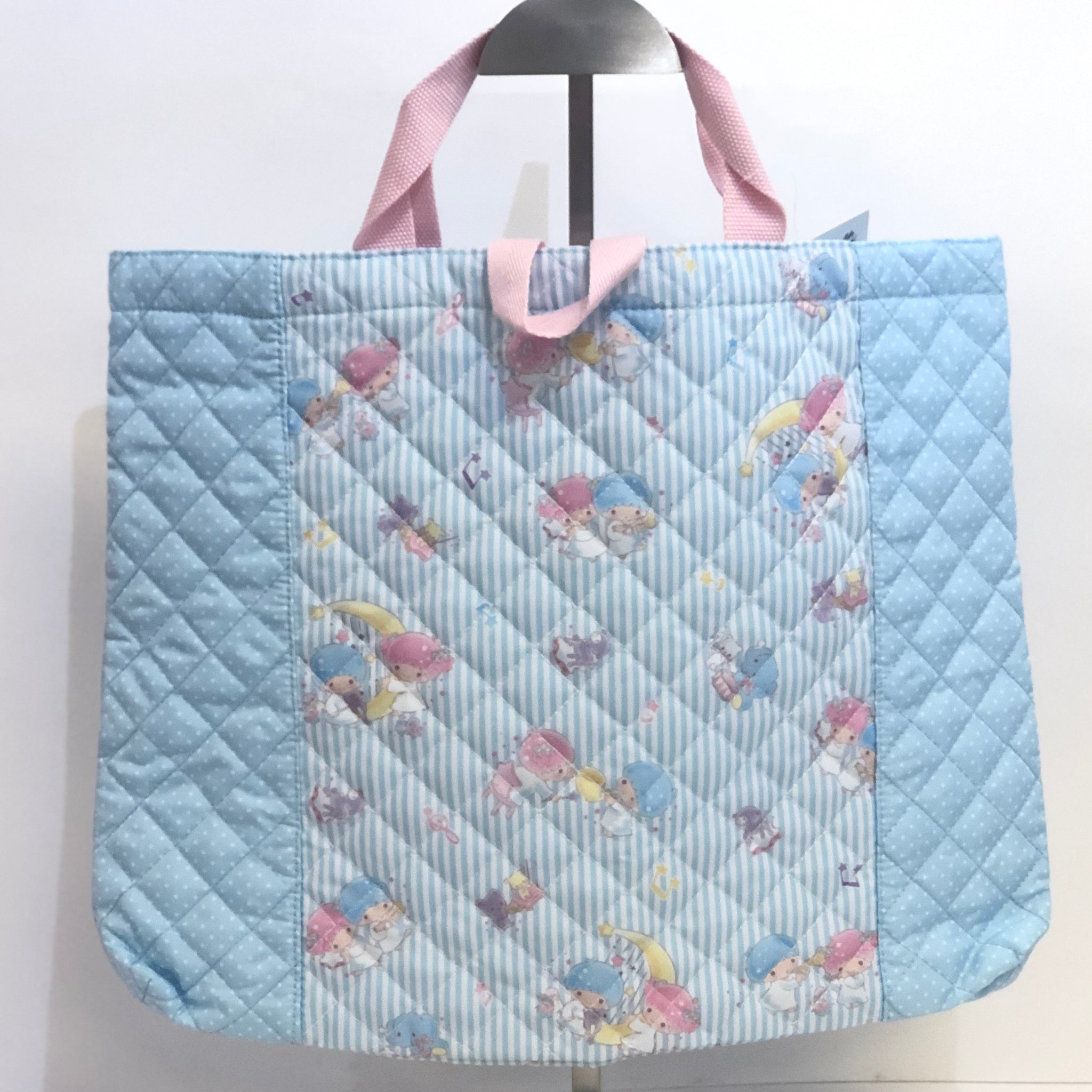 Little Twin Stars Stripes Quilted Tote Bag