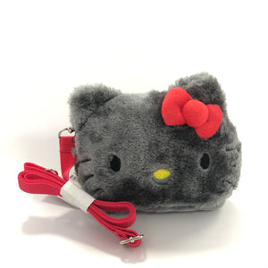 Hello Kitty Patch Plush Shoulder Pouch