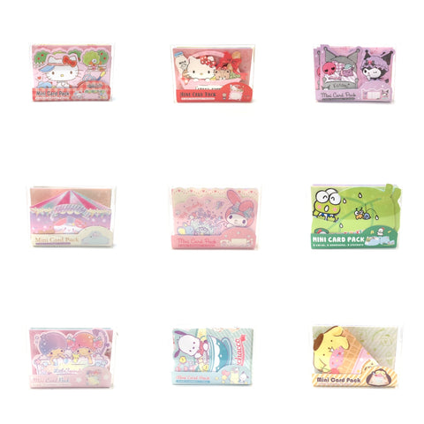 Sanrio Characters Mini Card Pack