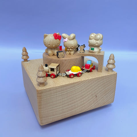 Sanrio Characters Wooden Music Box