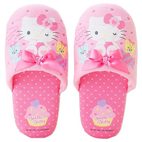 Hello Kitty Ribbon Kids Slippers