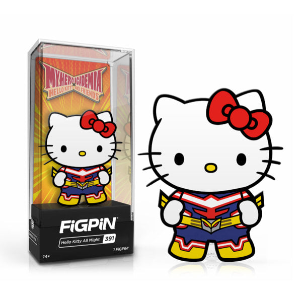 Sanrio Characters x My Hero Academia Hello Kitty x All Might FigPin