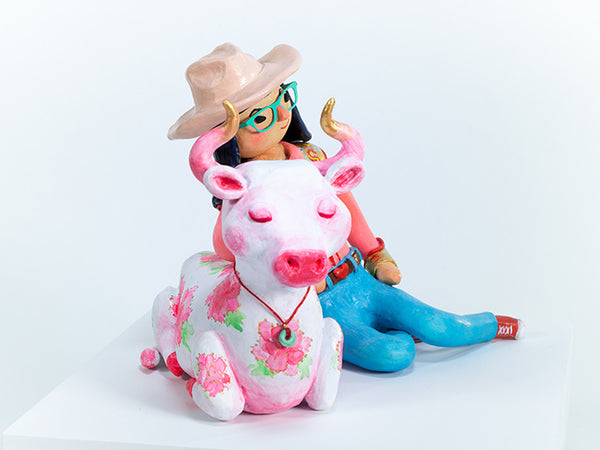 Texan Girl with Ox
