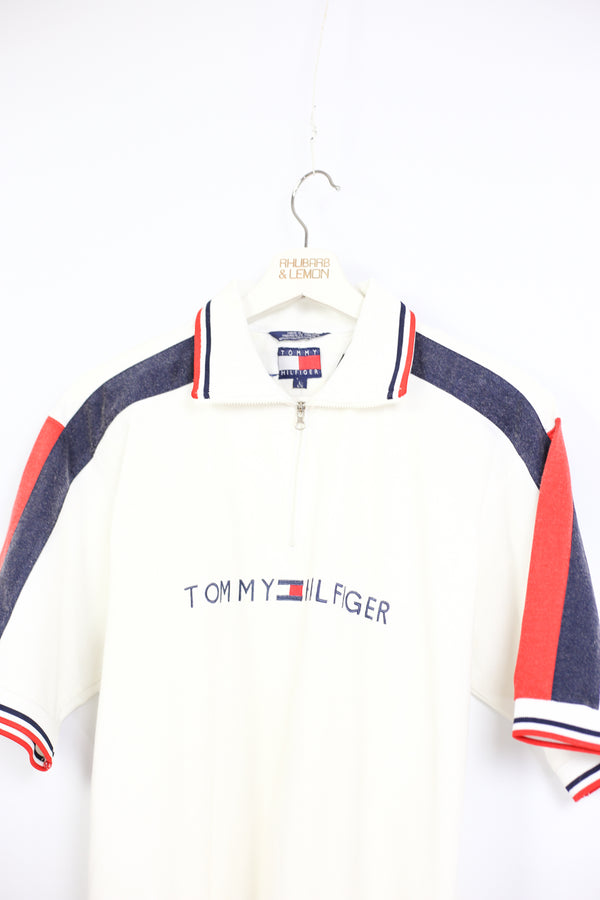 Tommy Hilfiger Vintage Quarter Zip T-Shirt - Large
