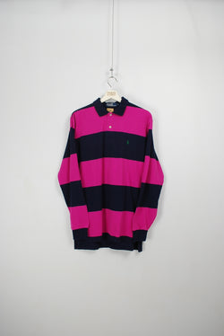 Ralph Lauren Vintage Long Sleeve Polo - Large