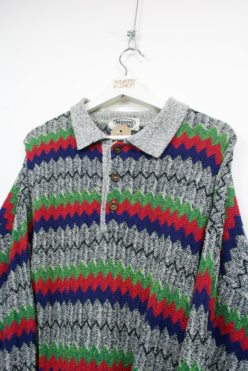 Missoni Vintage Polo Sweater - Large