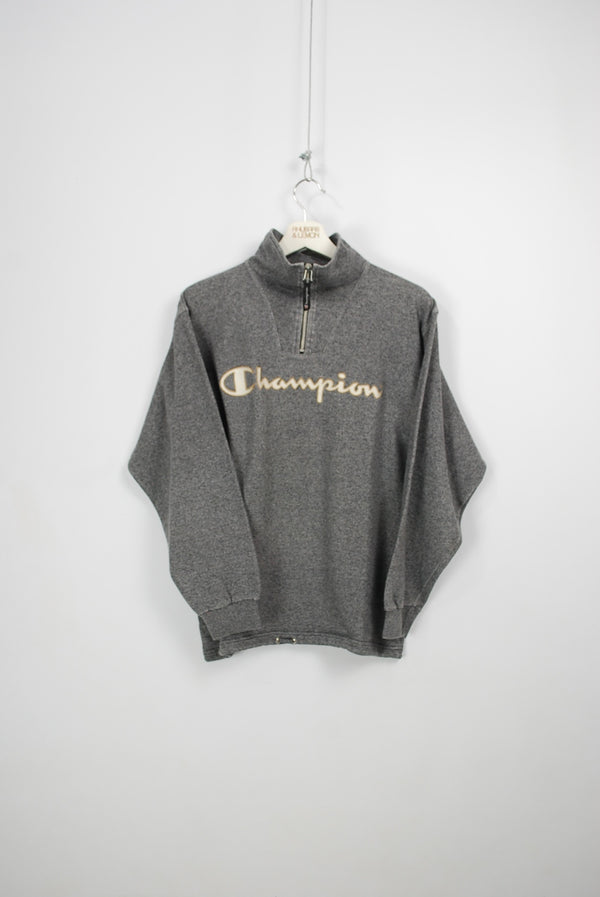 Champion Vintage Quarter Zip Sweatshirt - Small