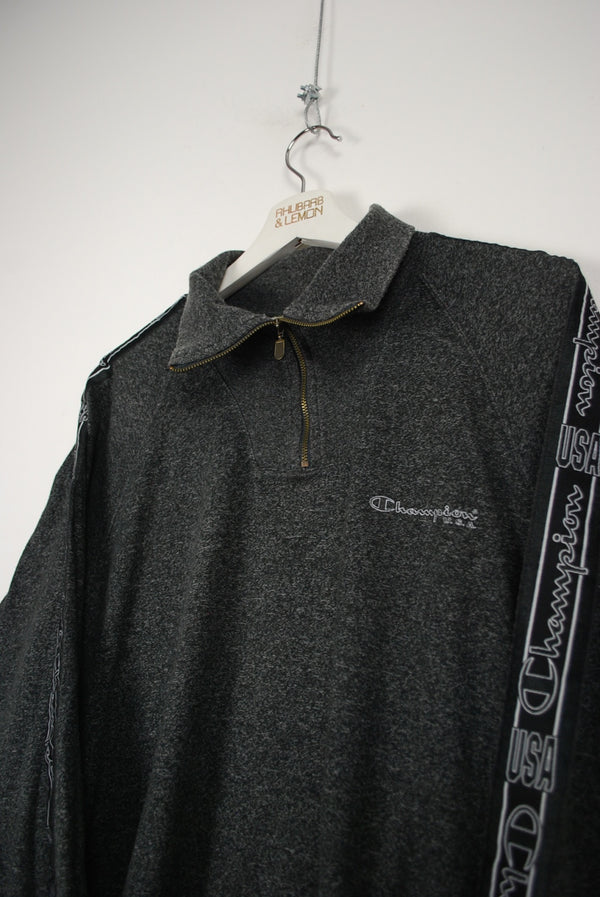 Champion Vintage Quarter Zip Sweatshirt - Large
