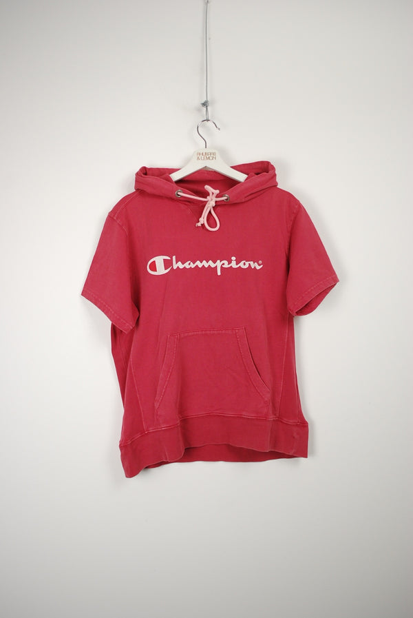 Champion Vintage Short Sleeve Hoodie - Medium