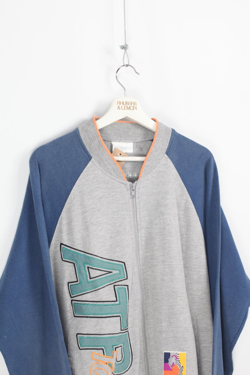 Adidas Vintage Zip Up Sweatshirt - Large