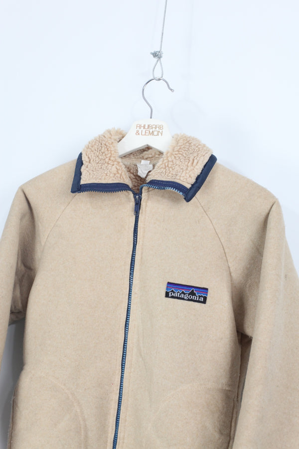 Womens Patagonia Vintage Sherpa Lined Jacket - Small