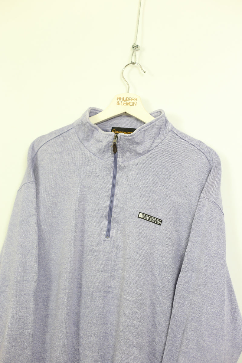 Valentino Vintage Quarter Zip Sweatshirt - Small
