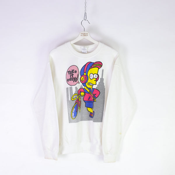1990's Bart Simpson Vintage Sweatshirt - Medium
