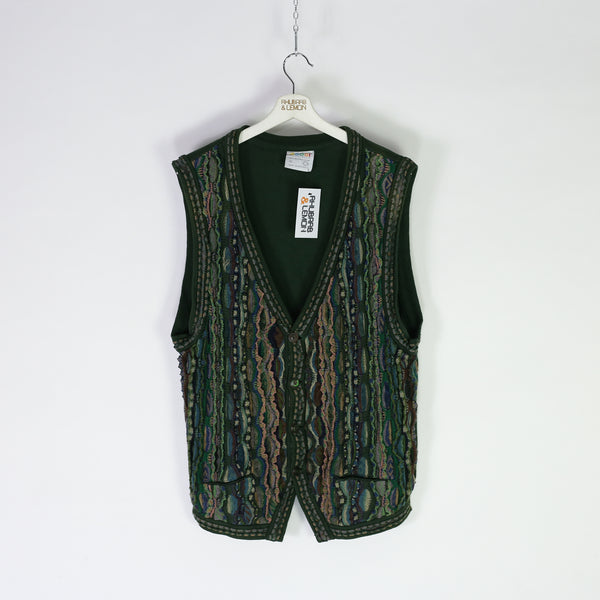 Coogi Vintage Sleeveless Cardigan - XL