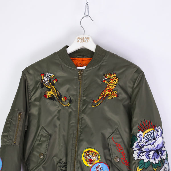 Womens Ed Hardy Vintage Bomber Jacket - Small