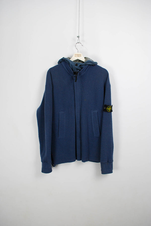 Stone Island Vintage Zip Up Sweatshirt - Large