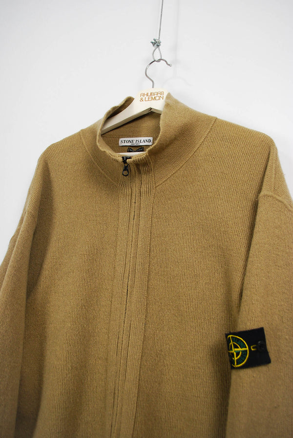 Stone Island Vintage Zip Up Sweater - Large