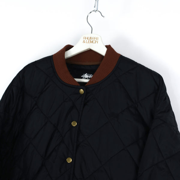 Stussy Deadstock Quilted Coat - Large