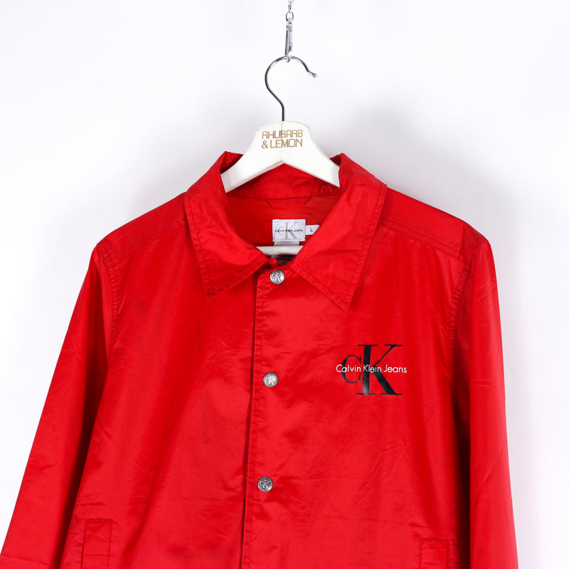 Womens Calvin Klein Vintage Coach Jacket - Large