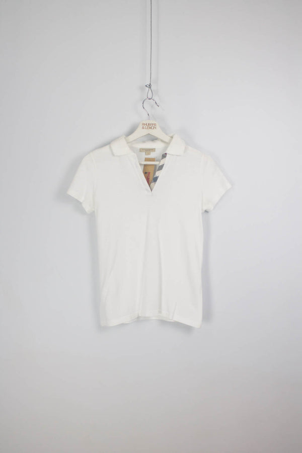 Womens Burberry Vintage Polo Shirt - Small