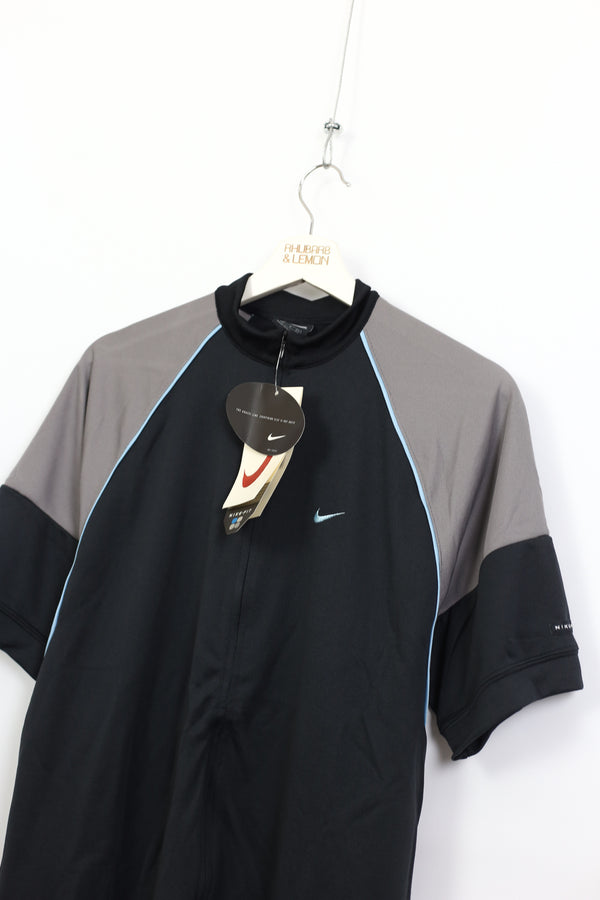Nike Early 00's Deadstock Quarter Zip T-Shirt - Medium