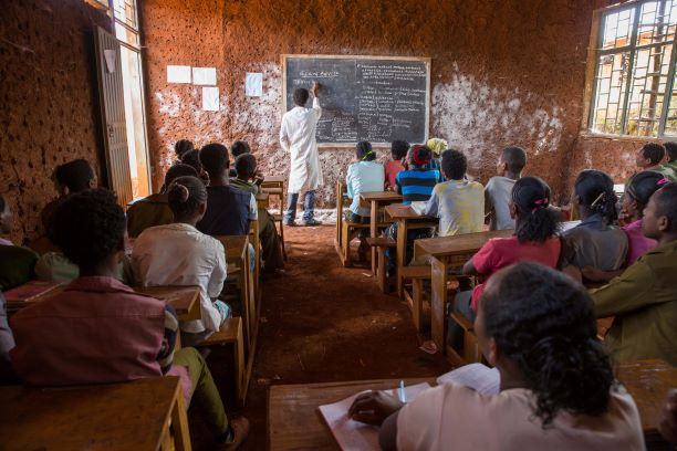 Fairtrade funded school. Photography by Roger van Zaal.