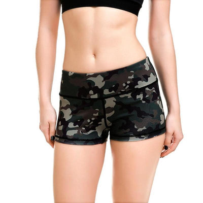 Slim Fitted Camouflage Workout Shorts