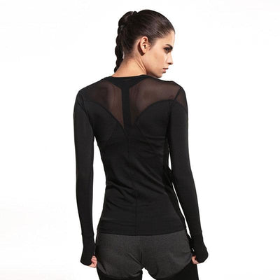 Meshed Breathable Long Sleeve T-Shirt